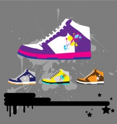 sneaker illustration vector image