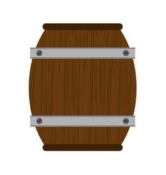 wooden barrel wine icon vector image