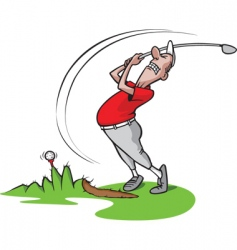 cartoon golfer vector image vector image