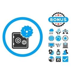 Hacking Theft Flat Icon with Bonus vector image