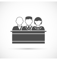 Jury icon Assize vector image vector image
