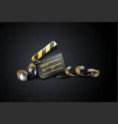 online cinema art movie poster vector image vector image