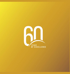 60 year excellence template design vector