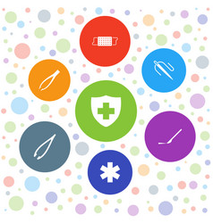 7 surgery icons vector