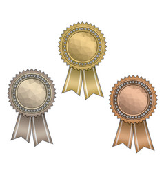 Awards with ribbons vector