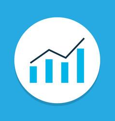 Bar graph icon colored symbol premium quality vector