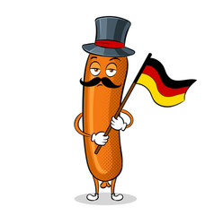 Bavarian sausage pop art vector