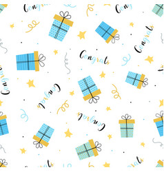 birthday presents pattern vector image