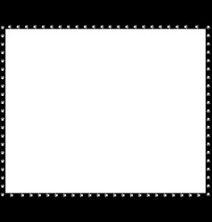 black and white rectangle frame made of dog paw vector image