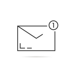 black thin line notification email vector image