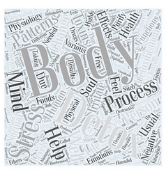 Body detox life mind purify soul Word Cloud vector