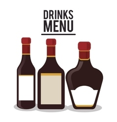 Bottle label set alcohol icon vector
