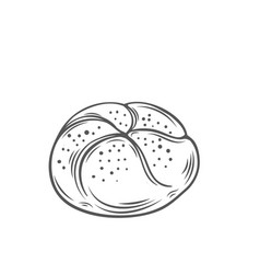 bread rolls icon vector image