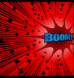 Bright comic explosive red background vector