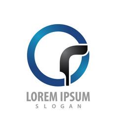 circle business finance logo concept design vector image