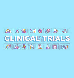 clinical trials word concepts banner vector image