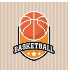 colored basketball icon vector image