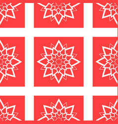 colorful seamless pattern of abstract red flowers vector image