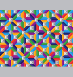 Colourful repetitive diamond pattern vector