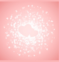 Couple hearts lined with confetti valentines vector