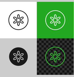 cucumber slice icon line style cucumber symbol vector image