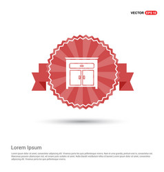 Cupboard icon - red ribbon banner vector