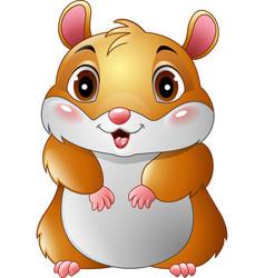 cute hamster cartoon vector image