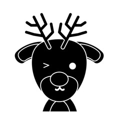 cute reindeer icon vector image