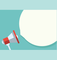 digital marketing megaphone for website vector image