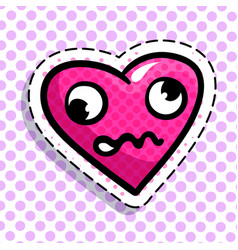 discouraged red heart vector image