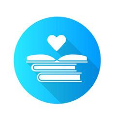 Educational books distribution flat design long vector