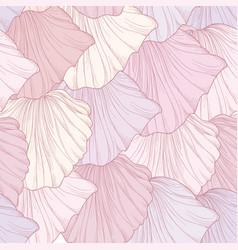 Floral seamless pattern engraved flower petals vector