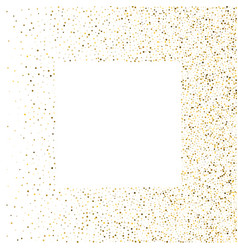 Golden splash or glittering spangles square frame vector