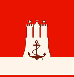 Hamburg seaport emblem vector