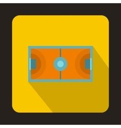 Handball playground icon flat style vector