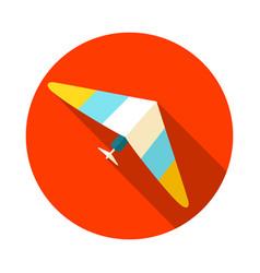 hang glider icon summer vacation vector image