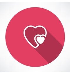 heart to heart icon vector image