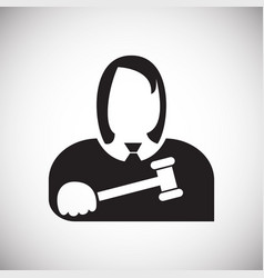 Judge icon on white background for graphic and web vector