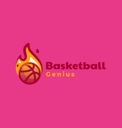 logo basketball simple mascot style vector image