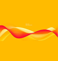 modern abstract background with bright wavy yellow vector image