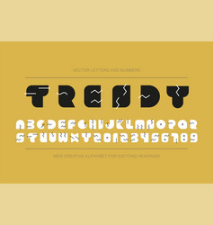 modern stylized font - minimalistic memphis vector image