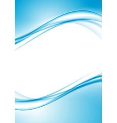 Modern swoosh border folder design template vector