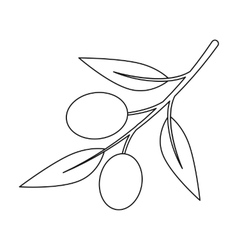 Olive icon outline Singe vegetables icon from the vector