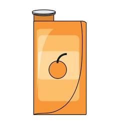Orange juice box icon vector