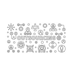 outsourcing horizontal vector image
