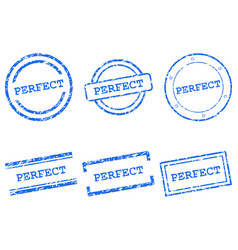 perfect stamps vector image