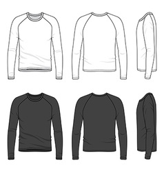 Raglan sleeve top vector