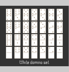 realistic dominoes full set 28 flat pieces for vector image