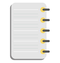 Retro notebook flat vector