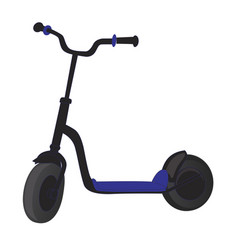 Roller scooter for children balance bike eco vector
